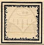 Square Mounted Stamp